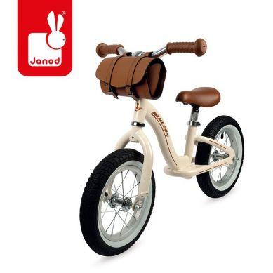 Janod - Metalowy Rowerek Biegowy Bikloon Vintage Beżowy 3+