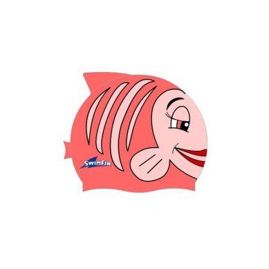 SwimFin - Silikonowy Czepek dla Dzieci Różowy