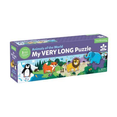 Mudpuppy - Metrowe Puzzle Zwierzęta Świata 30 Elementów
