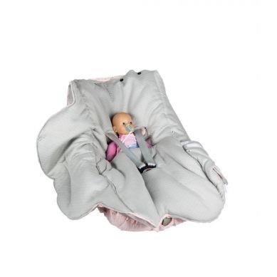 Muzpony - Pikowany Śpiworek/Otulacz do Fotelika Samochodowego Blink Pink