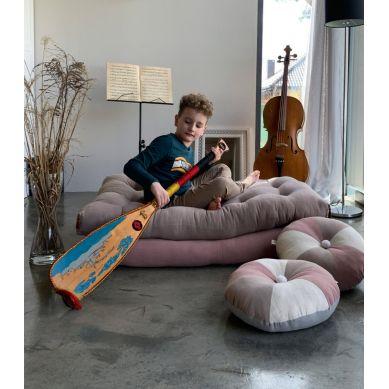 Muzpony - Ręcznie Pikowany Materac do Zabawy Lniany Zakątek Rose