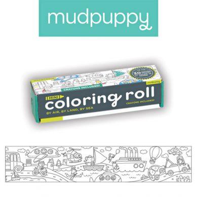 Mudpuppy - Kolorowanka w Rolce 76cm z 4 Kredkami Środki Transportu