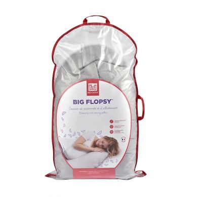 Red Castle - Ergonomiczna Poduszka Rogal dla Kobiet w Ciąży i Karmiących Big Flopsy Fleur de Coton White