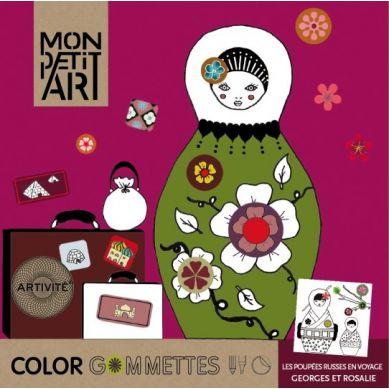 Mon Petit Art - Zestaw do Tworzenia Collage Color Gommettes Georges Et Rosalie