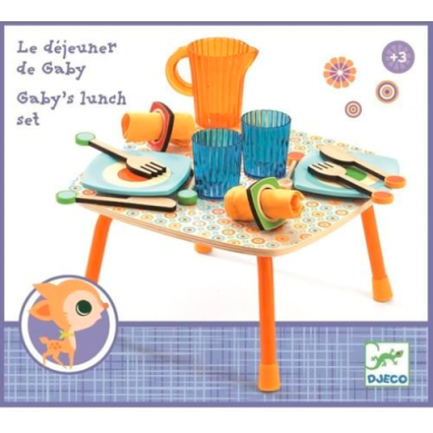 Djeco - Drewniany Zestaw Lunchowy 3+