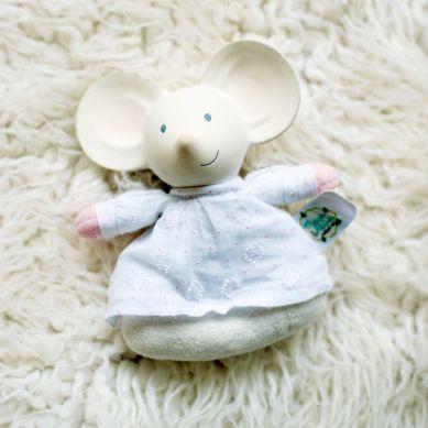 Meiya & Alvin - Miękka Grzechotka z Organicznym Gryzakiem Meiya Mouse