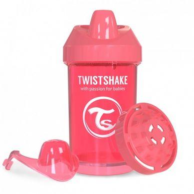 Twistshake - Kubek Niekapek z Mikserem do Owoców 300ml Brzoskiwniowy