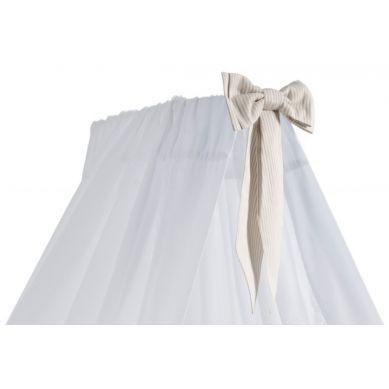 Caramella - Baldachim Stojący Biały z Beżową Kokardą
