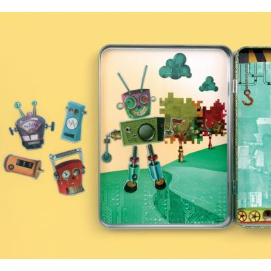 Mudpuppy - Magnetyczne Postacie Roboty 6+