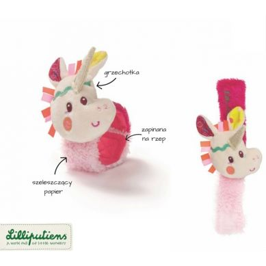 Lilliputiens - Grzechotka na Rękę Jednorożec Louise