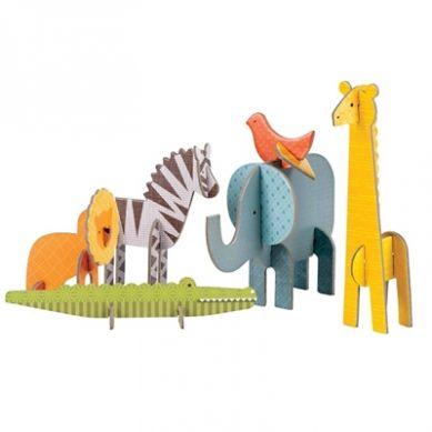 Petit Collage - Puzzle Przestrzenne Safari