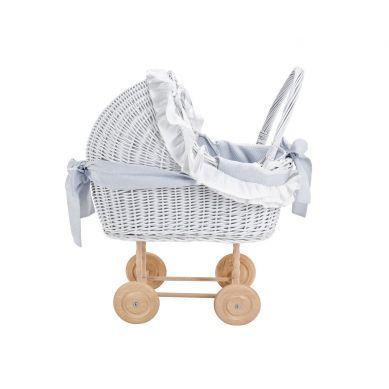Caramella - Wózeczek Wiklinowy Dekoracyjny Pure Grey
