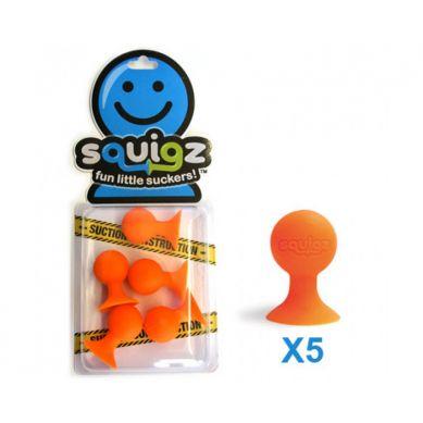 Fat Brain Toys - Przyssawki Squigz Dodatkowe 3 Pomarańczowe