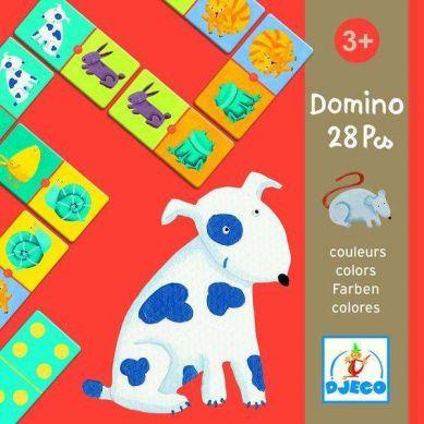 Djeco Duże Domino w Pudełku Kolory 3+