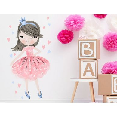 Pastelowelove - Naklejka na Ścianę Księżniczka Różowa