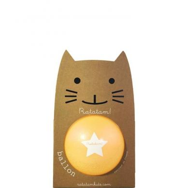 Ratatam - Piłka Mała 15 cm Glitter Summer Orange