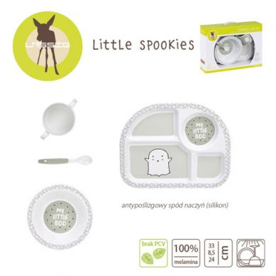Lassig - Komplet Naczyń z Melaminy Little Spookies Olive