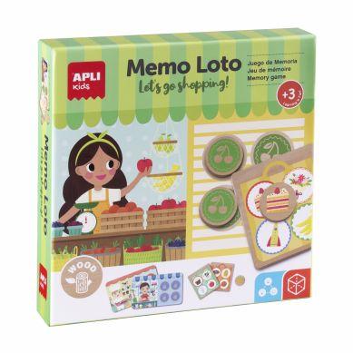 Apli Kids - Drewniana Gra Memo Lotto