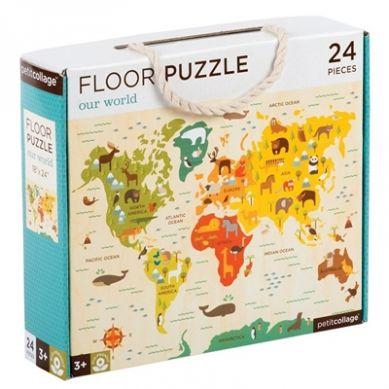 Petit Collage - Puzzle Podłogowe Mapa Świata