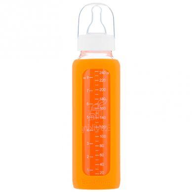 Eco Viking - Antykolkowa Butelka Szklana dla Niemowląt 240 ml Orange