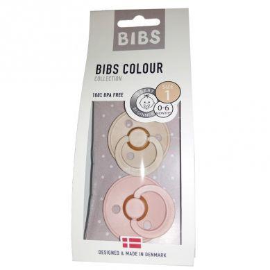BIBS - Smoczek Uspokajający Hevea 2-pack S Blush & Vanilla