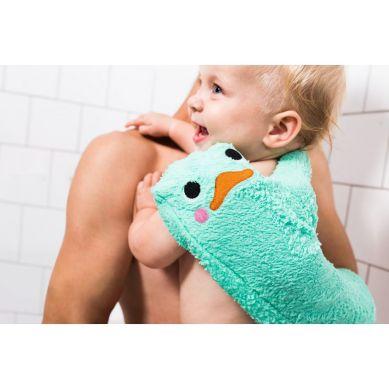 Invented 4 Kids - Rękawiczka Antypoślizgowa pod Prysznic Niebieska