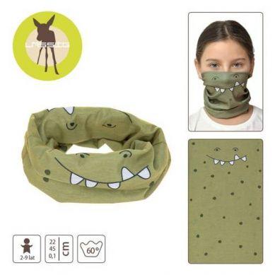 Lassig - Wielofunkcyjna Chusta Komin Flexi Loop Crocodile Olive