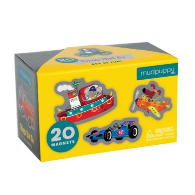 Mudpuppy - Zestaw Magnesów Środki Transportu 20 Elementów