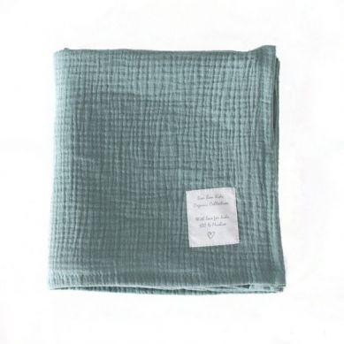 Bonbonkids - Otulacz Muślinowy 110 x 110 cm Green