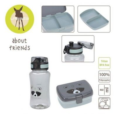 Lassig - Zestaw na Lunch Lunchbox + Tritanowa Butelka - Bidon 460 ml About Friends Szop