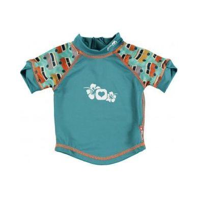 Close - Koszulka do pływania UPF50+ GREEN/GREEN Campervan XL 2-3 lata