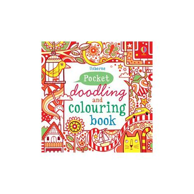 Wydawnictwo Usborne Publishing - Pocket Doodling and Colouring Book: Red