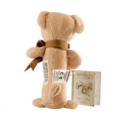 Maud'N'Lil - The Teddy Stick Rattle Grzechotka Organiczna Miękka Cubby