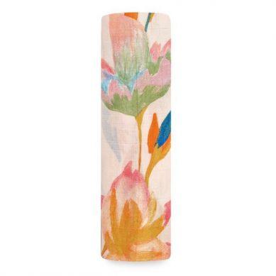 aden + anais - Otulacz Bambusowy Marine Gardens 120x120cm