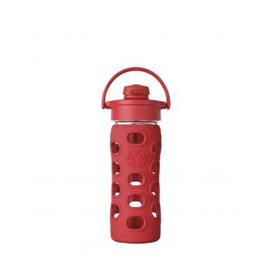 Lifefactory - Butelka Szklana z Ustnikiem 350ml Red