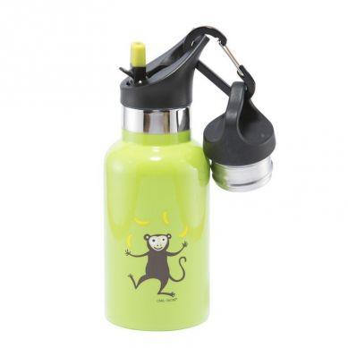 Carl Oscar - Temp Bottle Butelka Termiczna ze Słomką ze Szlachetnej Stali Nierdzewnej Lime Monkey