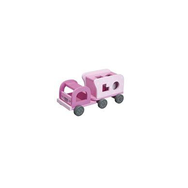 Kids Concept - Sorter Drewniany Samochód Różowy