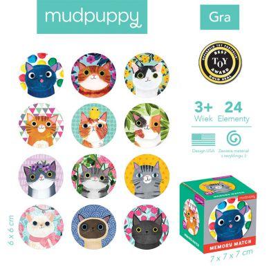 Mudpuppy - Gra Mini Memory Koty
