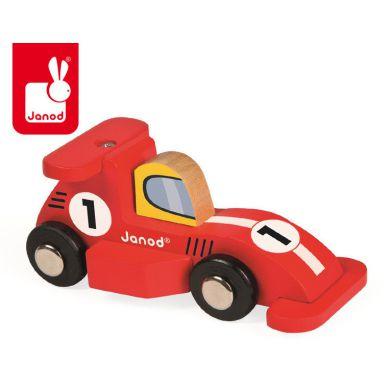 Janod - Wyścigówka Drewniana Formuła 1 Czerwona