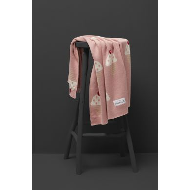 Fabliek - Kocyk Bawełniany Różowe Różki