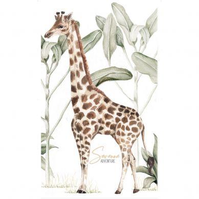 Dekornik - Naklejka Ścienna Savanna Adventure Żyrafa L 90x150cm