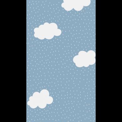 La Millou - Prześcieradło Good Night 60x120 cm Clouds on Denim