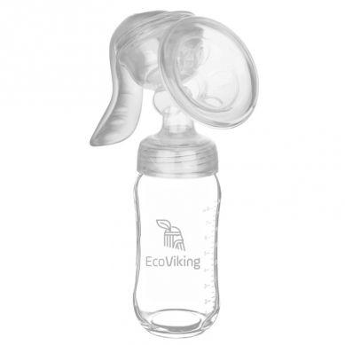 Eco Viking - Mummy Milk Laktator z Butelką Szklaną Szeroką 240 ml