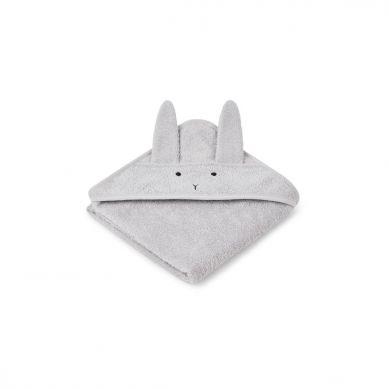 Liewood - Ręcznik z Kapturem Rabbit Dumbo Grey 70cm x 70cm