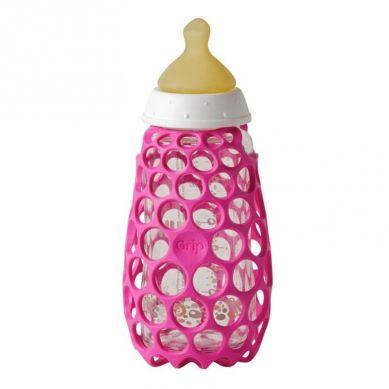 CogniKids - Baby Bottle Gripper Osłonka na Butelki do Karmienia Flamingo
