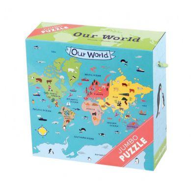 Mudpuppy Puzzle Jumbo 25 Elementów Świat