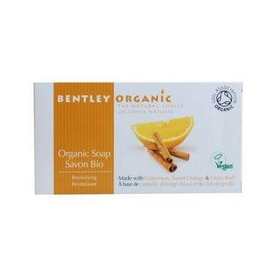 Bentley Organic - ODŻYWIAJĄCE Mydło z Cynamonem, Słodką Pomarańczą i Goździkami