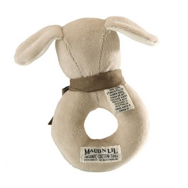 Maud'N'Lil - The Puppy Ring Rattle Grzechotka Organiczna Miękka Paws