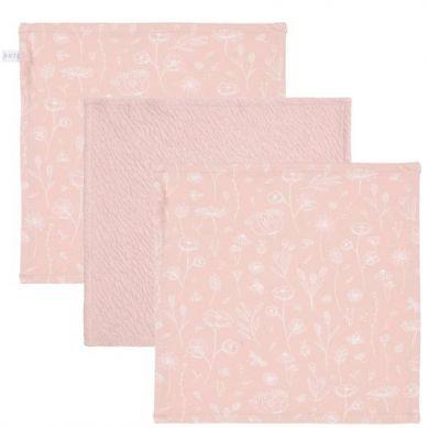 Little Dutch - Chusteczki Wild Flowers Pink / Pure Pink  3 szt.