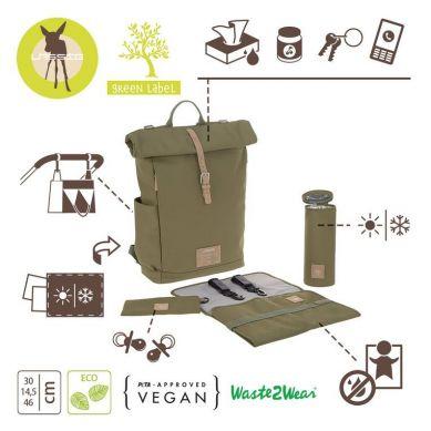 Lassig - Plecak dla Mam z Akcesoriami Green Label Olive
